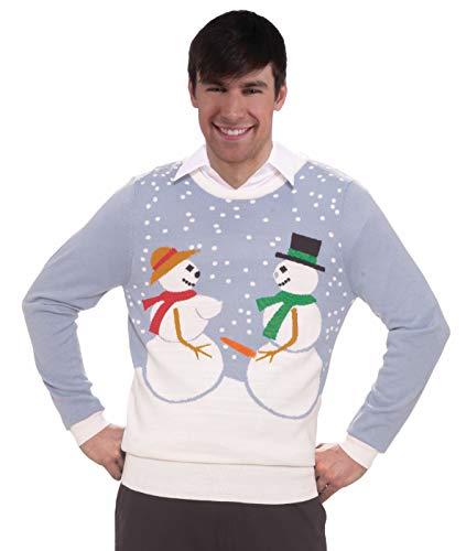 Forum Novelties Adult Extra Large Snow Couple Ugly Christmas Sweater, Multi, X-Large