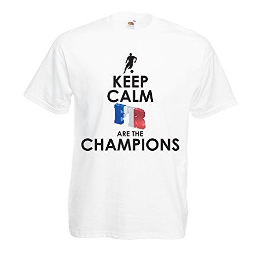 Camisetas Hombre Los franceses Son los campeones: Campeonato de Rusia 2018, Equipo de fútbol de la Copa del Mundo, Camiseta de la afición de Francia (XXXXX-Large Blanco Multicolor)