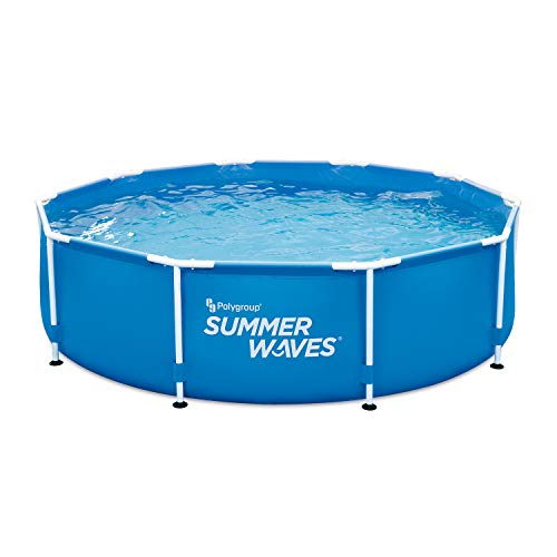 """Summer Waves 10' Active Frame Above-Ground Pool, 10'x30"""" -  Polygroup Trading, P2001030A"""