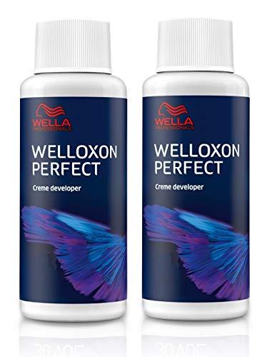 Wella Professionals Lot de 2 flacons de peroxyde d'eau Welloxon Perfect 9 % H2O2 60 ml