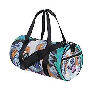 Duffel bag with dog face