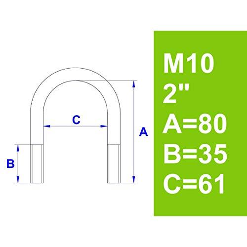 """Bügelschraube, ohne Zubehör, 2\"""" (60,3 mm) - M10"""