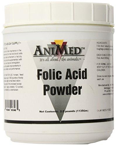 AniMed Folic Acid 10-Percent Powder for Horses, 2.5-Pound