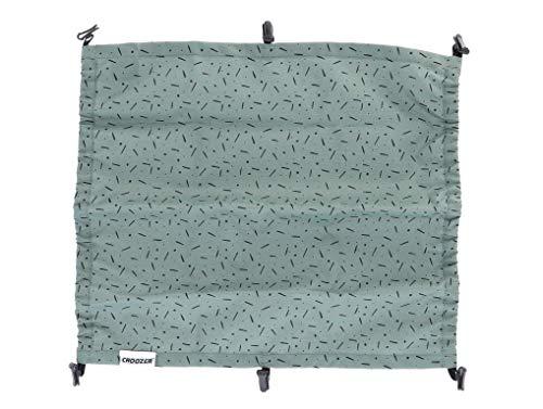 CROOZER Sonnenschutz Sun Cover für Kid 2 Modelle - Vaaya 2, Farbe:Jungle Green/schwarz