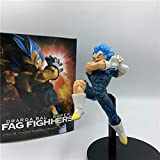 KVSW Blue Hair Fighting Super Saiyan Doll Doll Modelo de Juguete