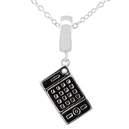 Serebra Jewelry Taschenrechner Halskette Anhänger Gimmick aus 925 Sterlingsilber Nerd Geek