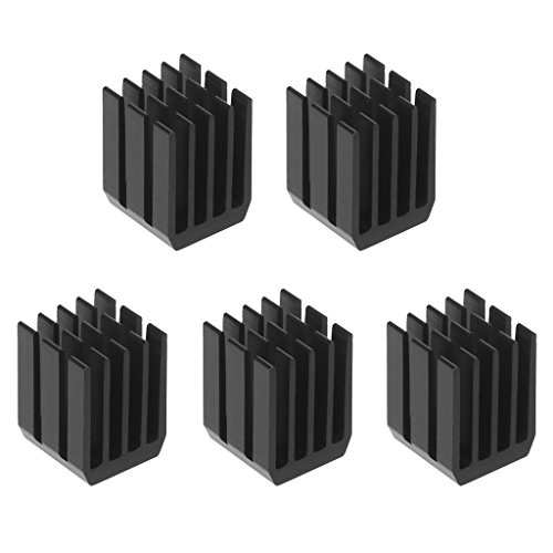 Xuniu Enfriador del disipador de Calor Chip RAM Radiador Disipador de Calor del disipador de Calor (5 Piezas, 9 * 9 * 12 mm)