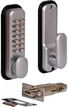 Z9R- PUSH BUTTON DIGITAL LOCK WITH HOLDBACK SATIN CHROME FINISH DOOR SECURITY LOCK by Digiteck