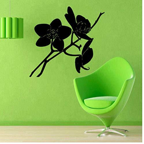 Rama Extraíble Calcomanía De Pared Flor De Orquídea Colgante De Pared Decoración De La Habitación Arte Vinilo Adhesivo Impermeable Dormitorio 59X63 Cm