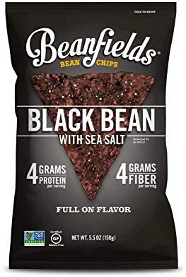 Beanfields Bean Chips High Protein and Fiber Gluten Free Vegan Snack Black Bean 5 5 Ounce Pack product image