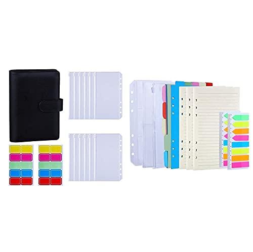 Antner A6 Binder Cash Budget Envelopes System Kit (Black) Bundle   3 Pack A6 Refill Paper Kit