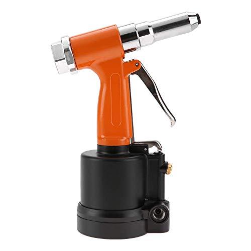 Pistola Hidráulica para Remachadora de Aire, Pistola de Remache Neumática con Cilindro Corto Fuerte para Láminas de Aluminio, Hierro y Acero Inoxidable(Orange Black)