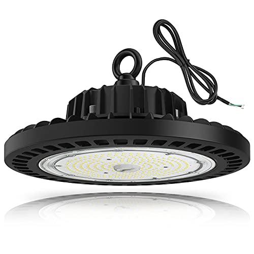UFO LED High Bay Light, TREONYIA 150W Led Shop Light- 5000K ETL&DLC Listed (600W HID/HPS Equivalent) Commercial Bay Lighting, IP65 Waterproof UL 5' Cable, AC100-277V, for Shop Garage Warehouse