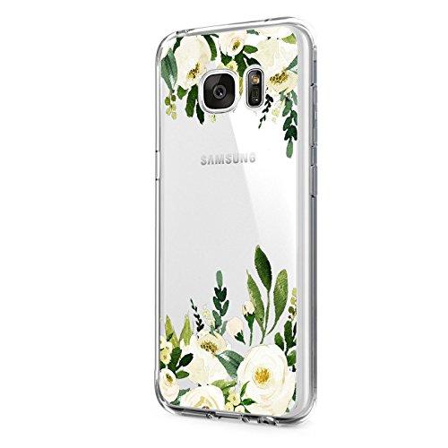 Pacyer Samsung Galaxy S6/S6Edge/S6Edge Plus Funda transparente silicona ultrafina hojas verdes Cooler Wolf trasera carcasa funda TPU Case Back Cover