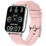 Montre Connectée Homme Femmes, Smartwatch 1,69 Montre Sport Podometre Cardiofrequencemètre Moniteur de Sommeil Etanche IP68 Montre Intelligente 24 Modes Bracelet Connecté Chronometre pour Android iOS