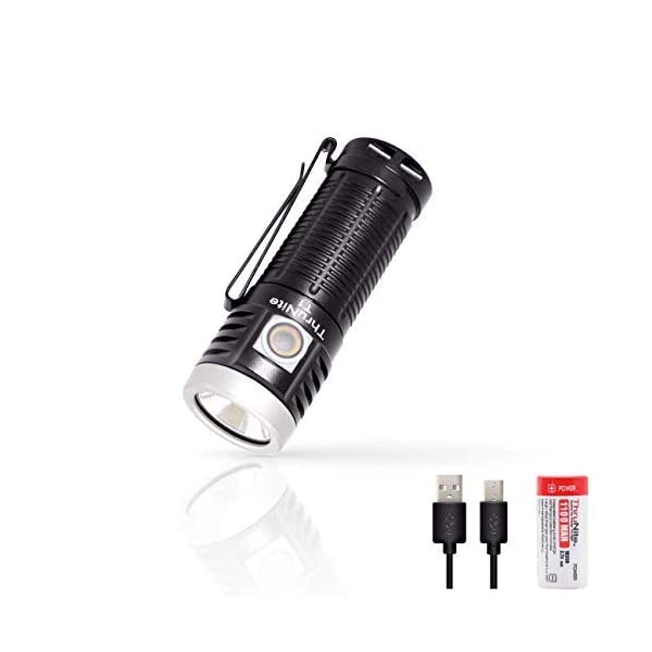 ThruNite T1 LED Torch, Flashlight Torch with Magnetic Tailcap, Rechargeable Pocket Flashlight with Stepless Dimming 1500…