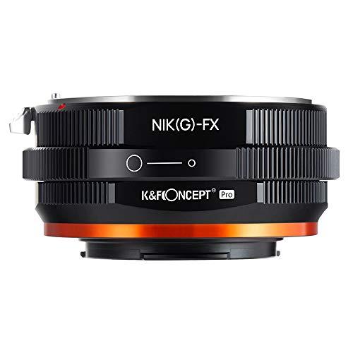 K&F Concept 2020進化版 マウントアダプター Nikon Gレンズ-FUJIFILM FX X-Pro1カメラ装着 PROⅡ 艶消し仕上げ 反射防止 無限遠実現 M18115 メーカー直営店