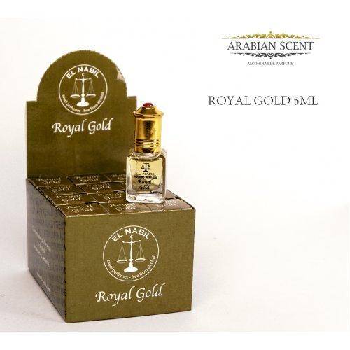 Pack de 12 Almizcle EL NABIL 5ml Royal Gold 100% aceite