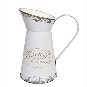 Silk Flower Arrangements APSOONSELL Rustic Shabby Chic Vase Metal Flower Vase Vintage Farmhouse Decor