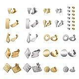 Cheriswely, 40 pezzi in acciaio inox per orecchini e orecchini con retro di sicurezza per ...