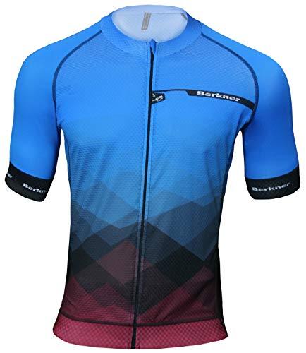 BERKNER - Pablo – Maillot de cyclisme bleu avec ions argentés, taille 4XL