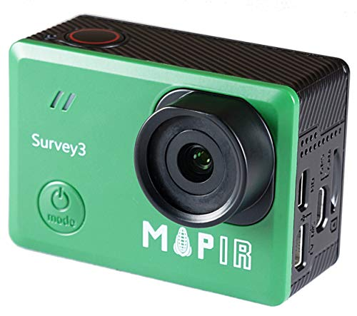 MAPIR Survey3N NDVI Mapping Camera RGN Red+Green+Near Infrared Filter 8.25mm f/3.0 No Distortion Narrow Angle GPS Touch Screen 2K 12MP HDMI WiFi PWM Trigger Drone Mount