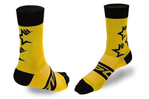 Calcetines amarillos para ciclismo