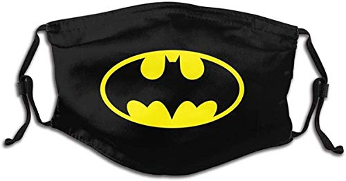 Golden Black Batman Logo halloween washable face mask reusable Adjustable Balaclavas made in USA