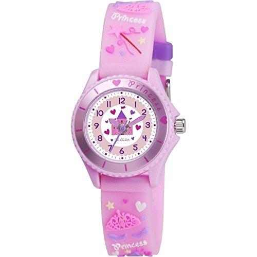 Nana 's Party Versand Schnell Kinder Uhren–Auswahl von Themen und Farben–Mädchen & Jungen (Geschenk, Uhr, Tikkers) Princess Castle - Pink (TK0036...