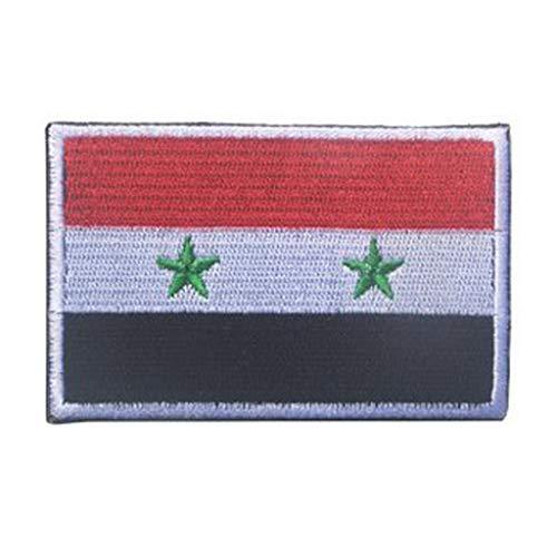 ShowPlus Syrien-Flagge, Militär, bestickt, taktischer Aufnäher, Moral, Schulterapplikation