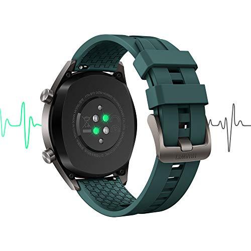 Huawei Watch GT Active Smartwatch (46 mm Amoled Touchscreen, GPS, Fitness Tracker, Herzfrequenzmessung, 5 ATM wasserdicht) Dunkelgrün - 3