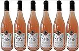 Chinon Bio 2018 - Vin Rosé sec AOC en lot de 6 bouteilles de 75cl.