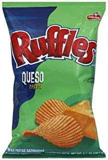 Frito Lay, Ruffles, Queso Flavored Potato Chips, 8.5oz Bag (Pack of 3)
