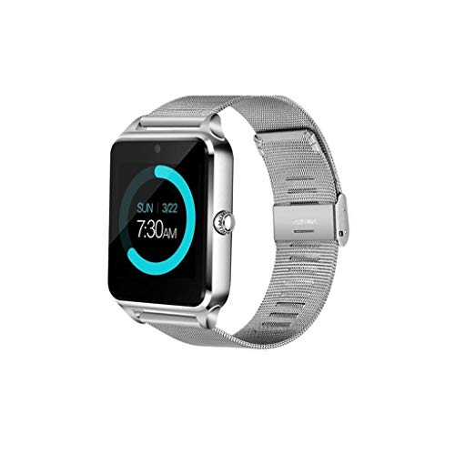 HFXLH Smart-Watch Tarjeta SIM Pulsera Comercial Rastreador de Ejercicios Mensaje Push Heart Rate Presión Arterial Monitoreo del sueño, 3