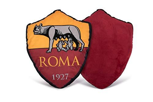 AS Roma 93200402140 Cuscino Sagomato, Poliestere, Giallo/Rosso, 27x32.5x7 cm