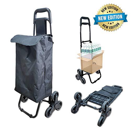 Cesta Carro Dolly subir escaleras del balanceo Carrito de la compra a prueba de agua aislamiento Bolsa de la compra resistente plegable carrito de compras