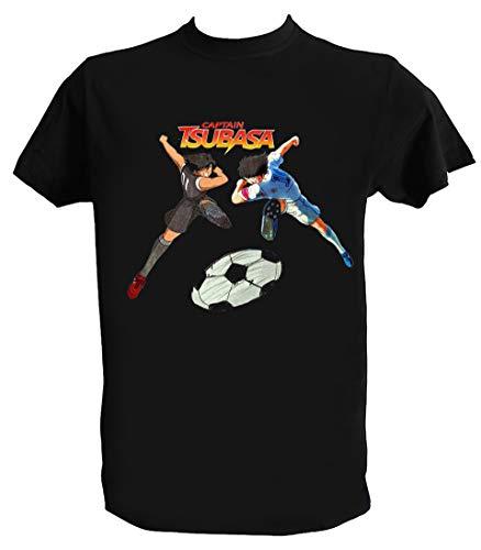 UZ Design Camiseta Oliver y Benji Campeones Hombre Niño Captain Tsubasa Dibujos Animados Años 90