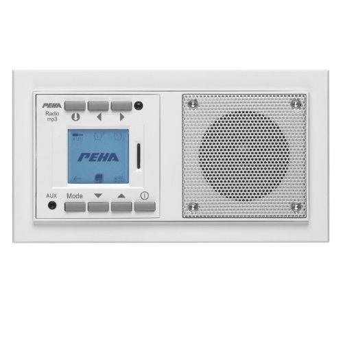Honeywell Home Peha MP3 Unterputz-Radio AudioPoint im Nova-Design ohne Funksender, Rahmen reinweiß