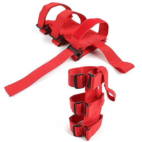Roll Bar Fire Extinguisher Holder, Adjustable Fire Extinguisher Strap Mount for Jeep Wrangler CJ, YJ, TJ, LJ, JK, JKU, JL, JLU (Red)