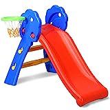 COSTWAY Tobogn Infantil con Aro de Baloncesto para Jardn Parque Hogar Interior Exterior