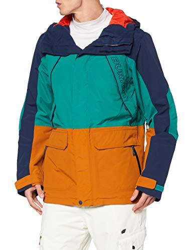 Burton Herren Breach Snowboard Jacke, Dress Blue/Antique Green/True Penny, XL