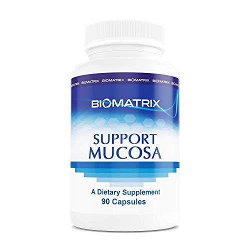 Support Mucosa 90 Capsules - Aids Intestinal & Gut Repair, Support for Mucosal Barrier, Leaky Gut, Food Allergies, SIBO Friendly, Aid Inflammation