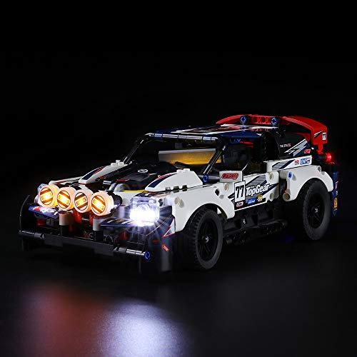 LIGHTAILING Licht-Set Für (Technic Top-Gear Ralleyauto) Modell - LED Licht-Set Kompatibel Mit Lego 42109(Modell Nicht Enthalten)