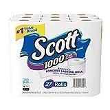 Scott 1000 Sheetsper Roll Toilet Paper, Bath Tissue, 27 Count