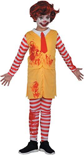 Costume bambino Horror clown boy, 8-10 anni