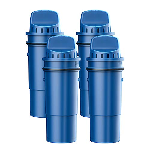 FilterLogic NSF Certified CRF-950Z Pitcher Water Filter, Replacement for Pur Pitchers and Dispensers PPT700W, CR-1100C, DS-1800Z and PPF951K, PPF900Z Water filter (Pack of 4)