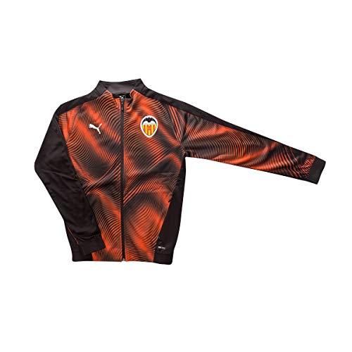 PUMA Valencia CF Stadium Primera/Segunda Equipación 2019-2020 Niño, Chaqueta, Black-Vibrant Orange