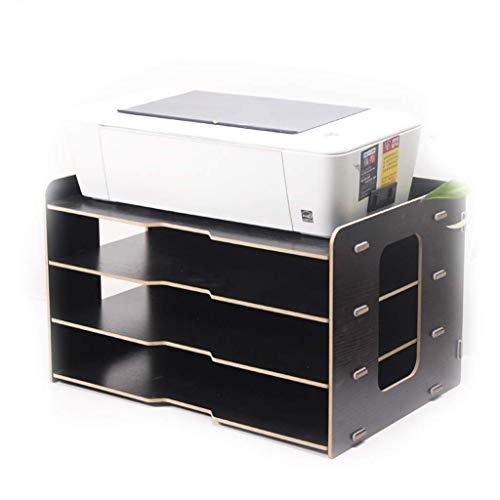 ZHFZD Bureaurek met 4 lagen, bureaurek van hout, meerdere lagen, A3 opbergdoos voor papier Size D