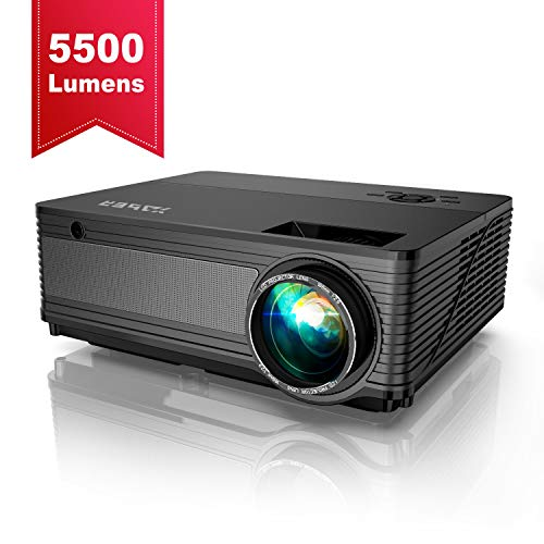 Videoproiettore, YABER 5500 Lumen Proiettore Nativa 1080P Supporto 4K 1920 x 1080 HD 300 'Display Domestico/Professionale Per Iphone, Smartphone, Pc, Tvbox, Laptop, Ps4