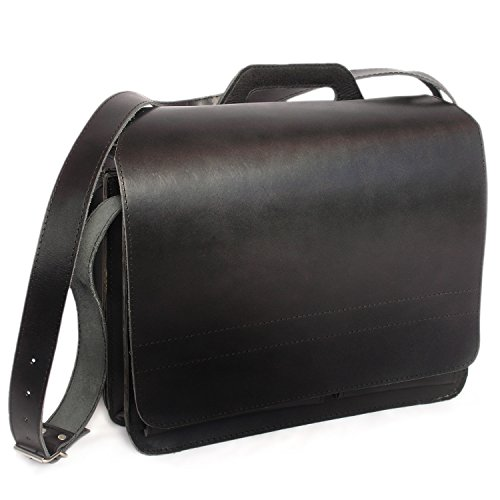 Große Aktentasche Lehrertasche Größe XL aus Leder, für Damen und Herren, Schwarz, Jahn-Tasche 676